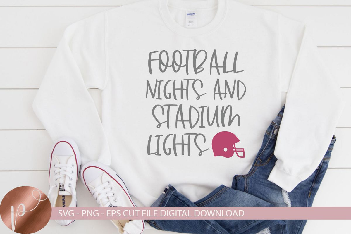 Football Nights Stadium Lights Svg, Football Shirt Design example image 1