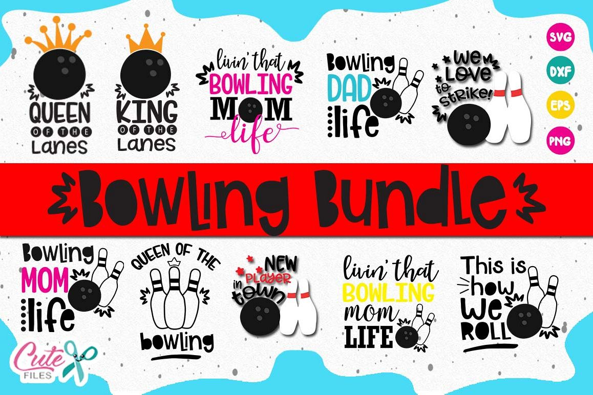 Bowling bundle, for king of the lanes cut files for crafters example image 1