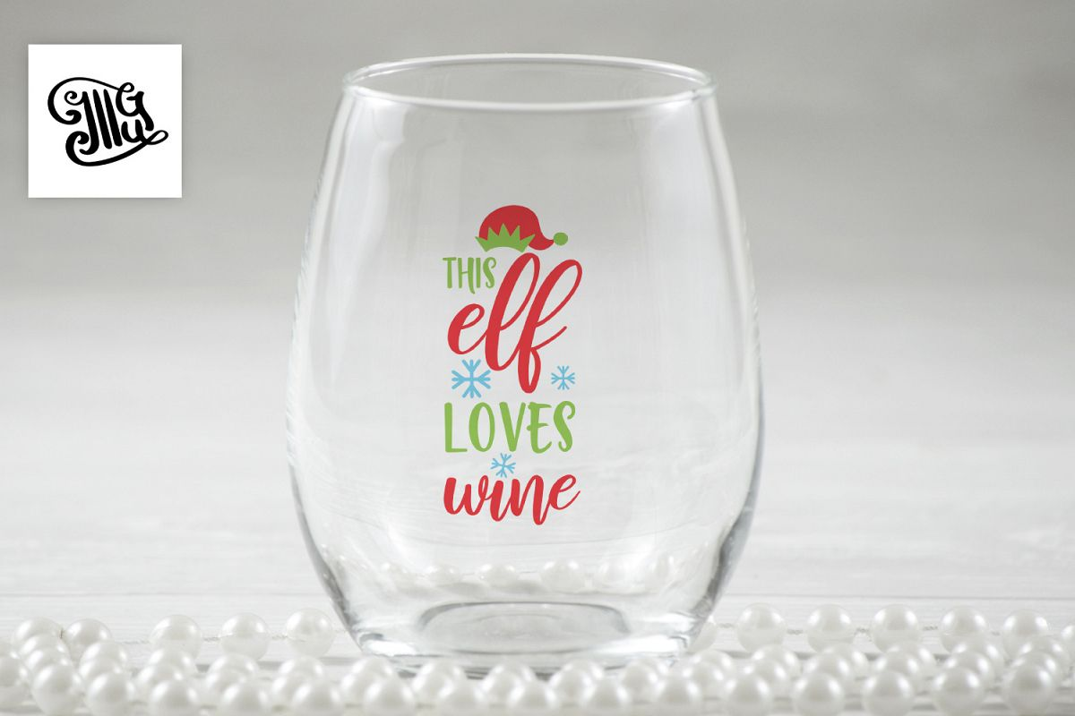 This elf loves wine - Christmas wine example image 1