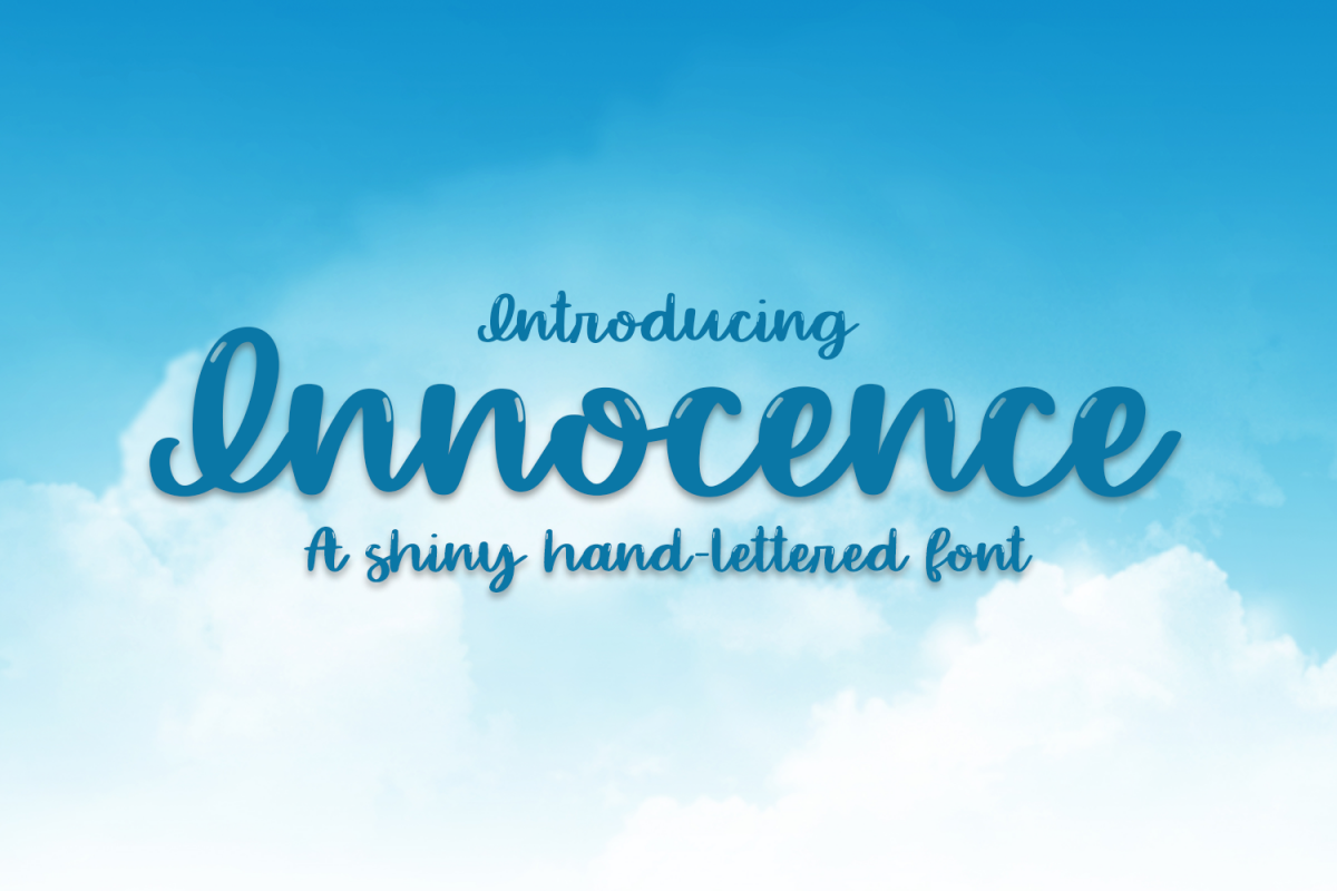 Innocence - A Hand-Written Shiny Script Font example image 1