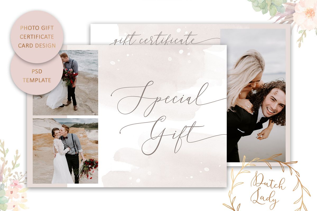 Photo Gift Card Template For Adobe Photoshop 47