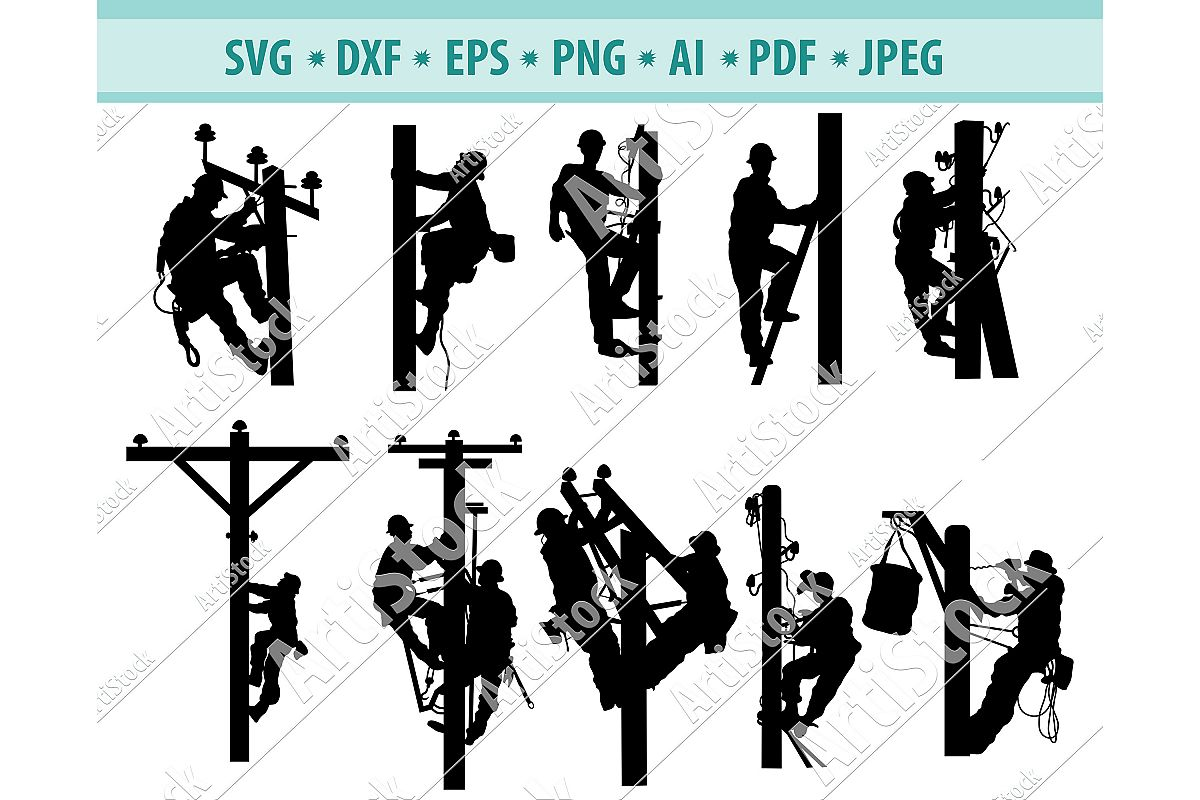 Mens jobs svg, Dangerous jobs Svg, Electric Png, Dxf, Eps example image 1