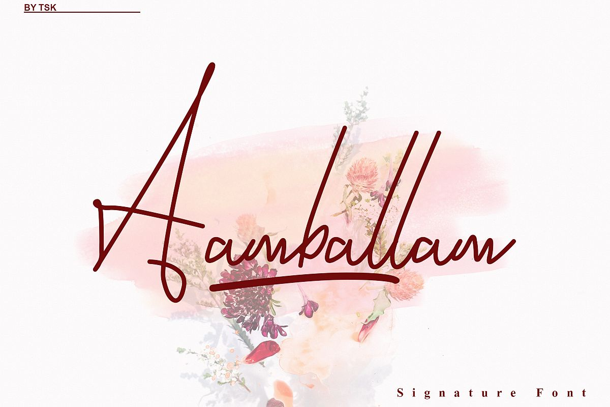 Aamballam -/ Signature Fonts example image 1