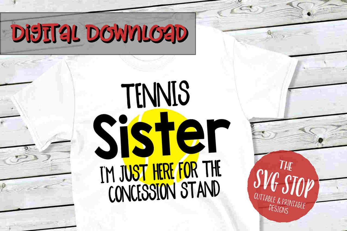 Tennis Sis-SVG, PNG, DXF example image 1