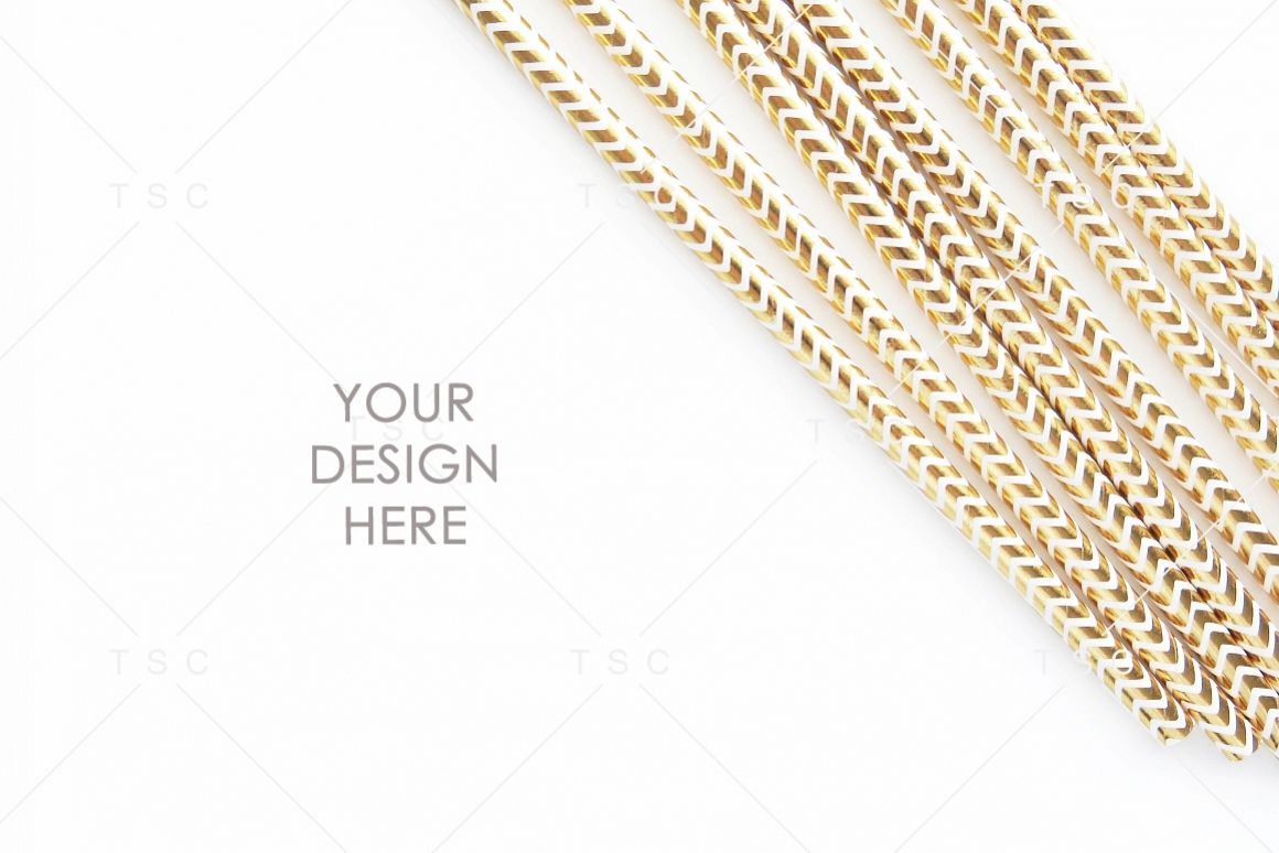Gold Party Straw Stock Photo example image 1