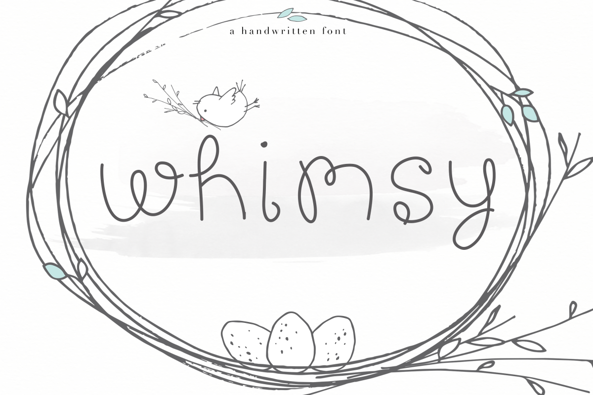 Whimsy - A Whimsical Handwritten Font example image 1