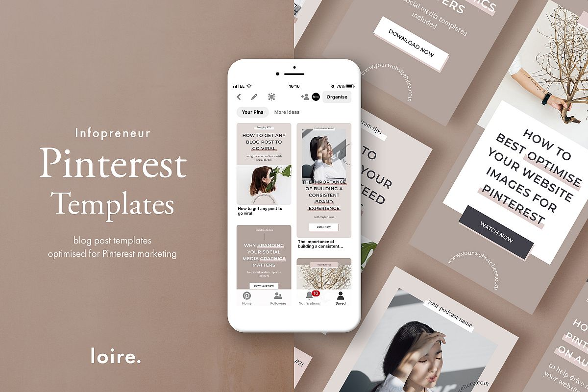 Pinterest marketing graphics template pack example image 1