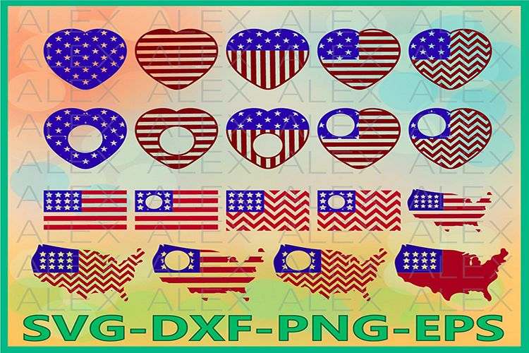 Independence day Svg, Patriotic Svg, American Flag Svg Files example image 1