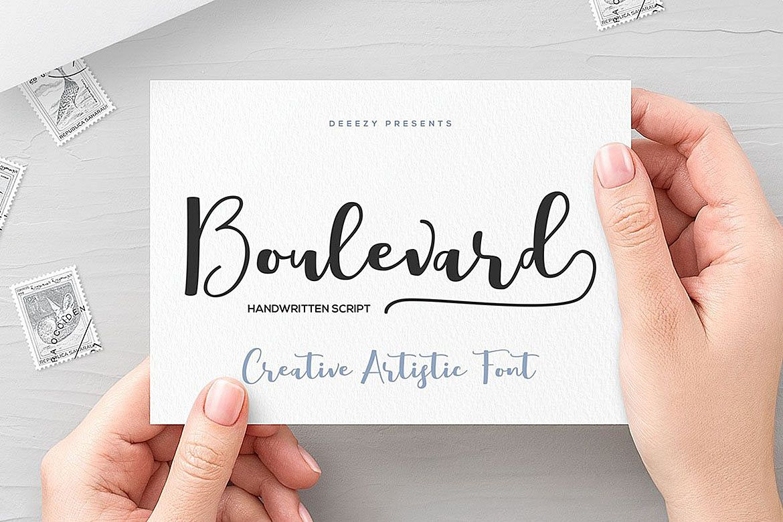 Boulevard Script Font example image 1