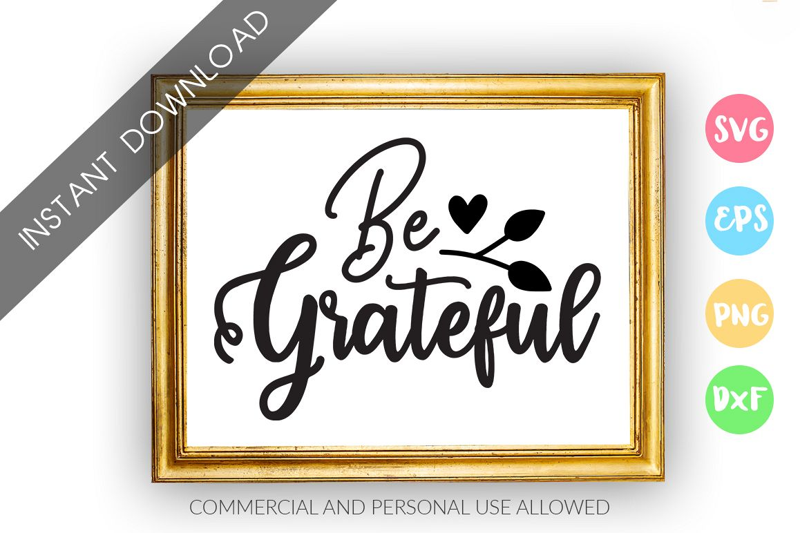 Be grateful SVG Design example image 1