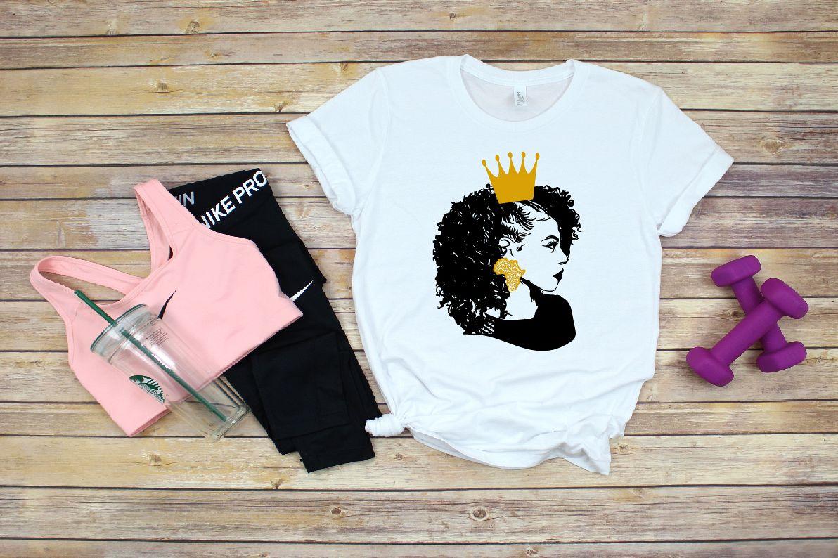 Black Woman Nubian Princess Queen Beautiful African 706SV example image 1