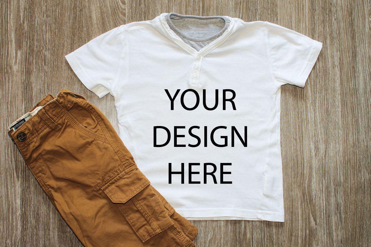 Shirt Mockup Styled Stock Photography Stock photo example image 1