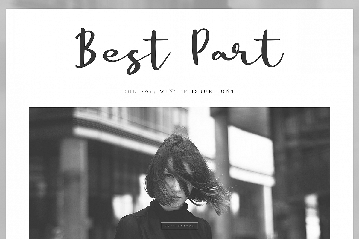 Best Part - Beauty Casual Font example image 1