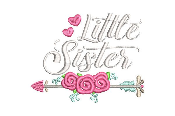 Little Sister Floral Arrow example image 1