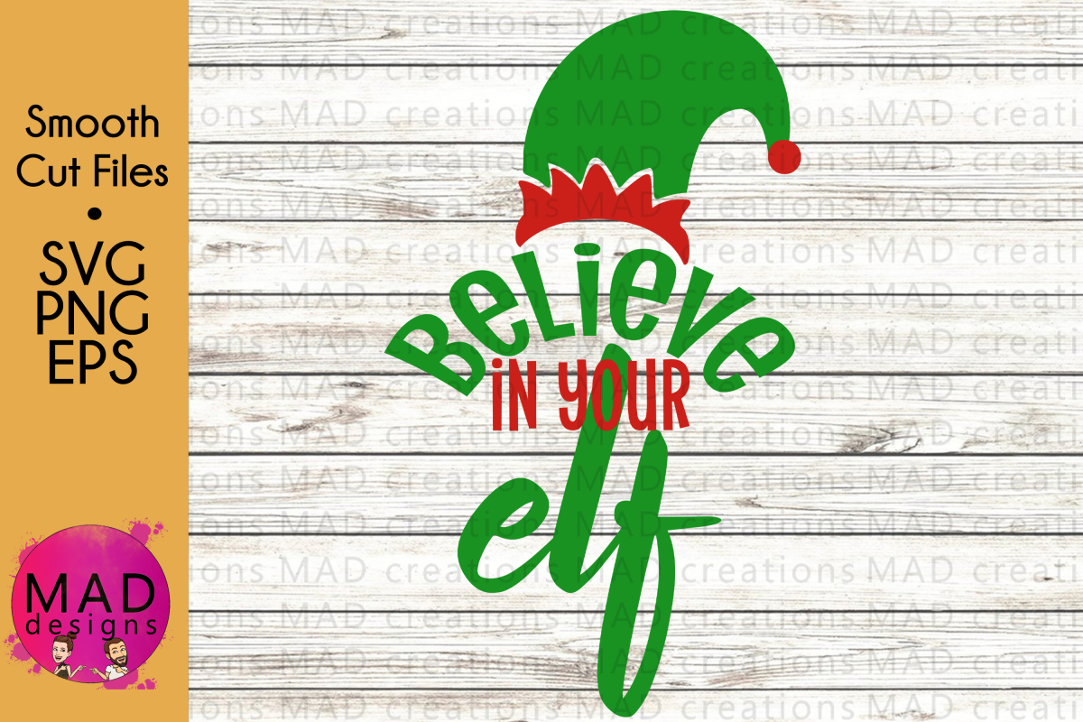 Christmas Elf - Believe In Your Elf - Hat and Shoes - SVG example image 1