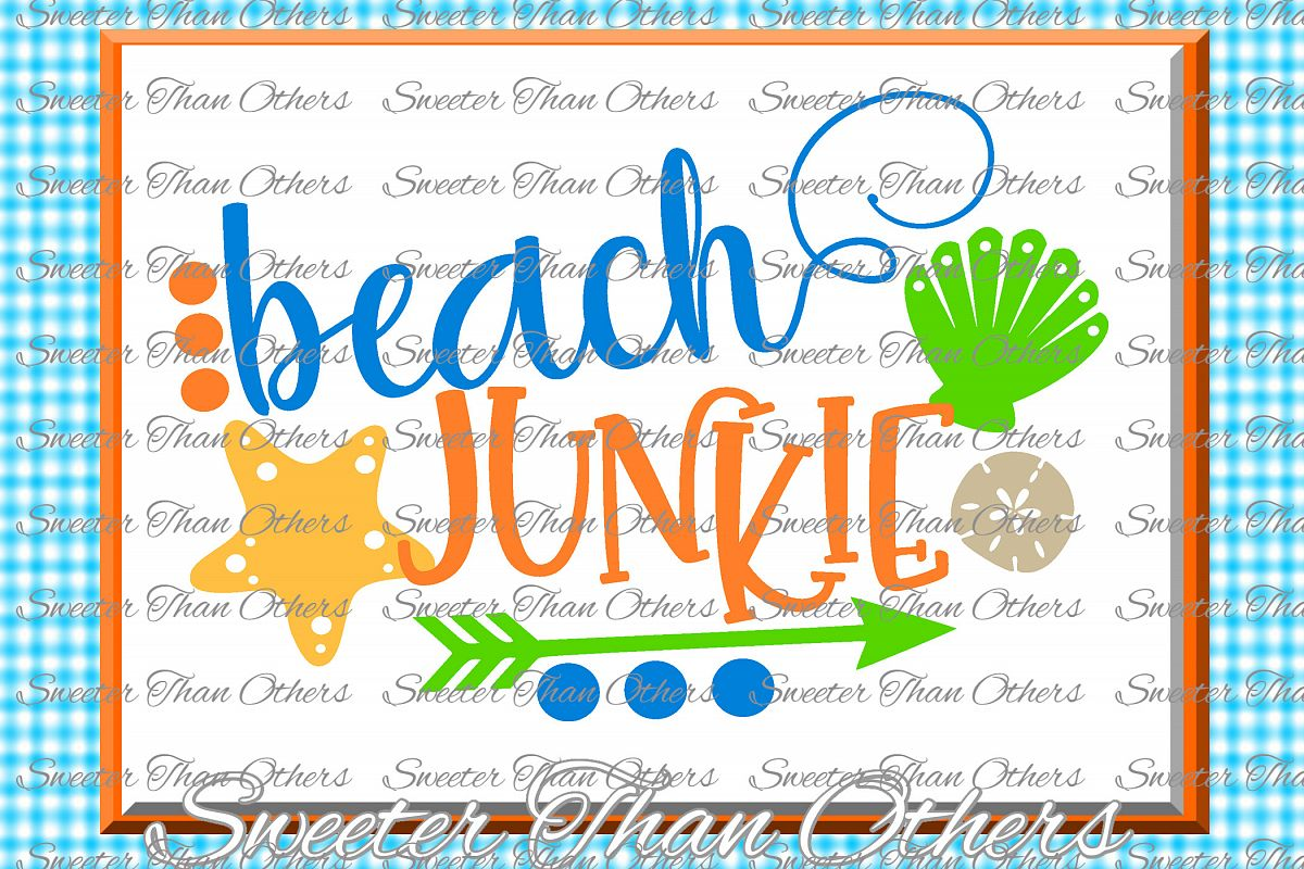 Beach Svg Beach Junkie svg, Summer Beach pattern example image 1