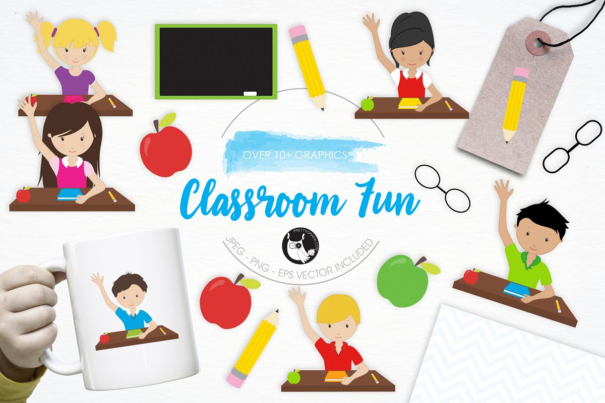 Classroom Fun graphics and illustrations example image 1
