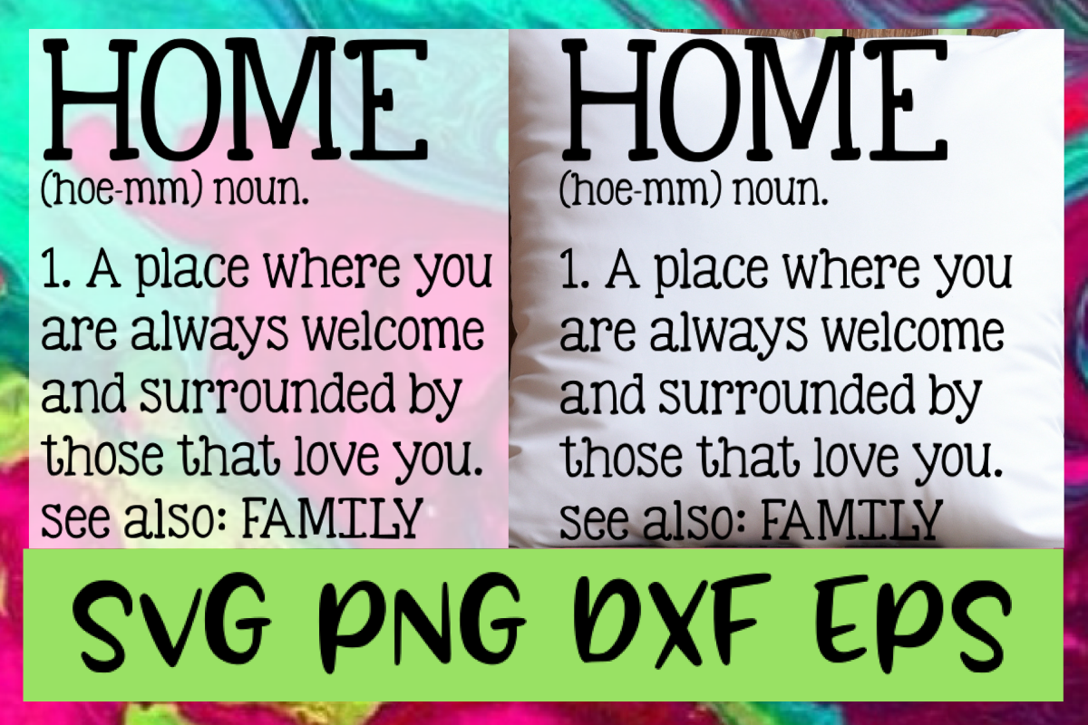 Home Quote Definition SVG PNG DXF & EPS Design Files example image 1