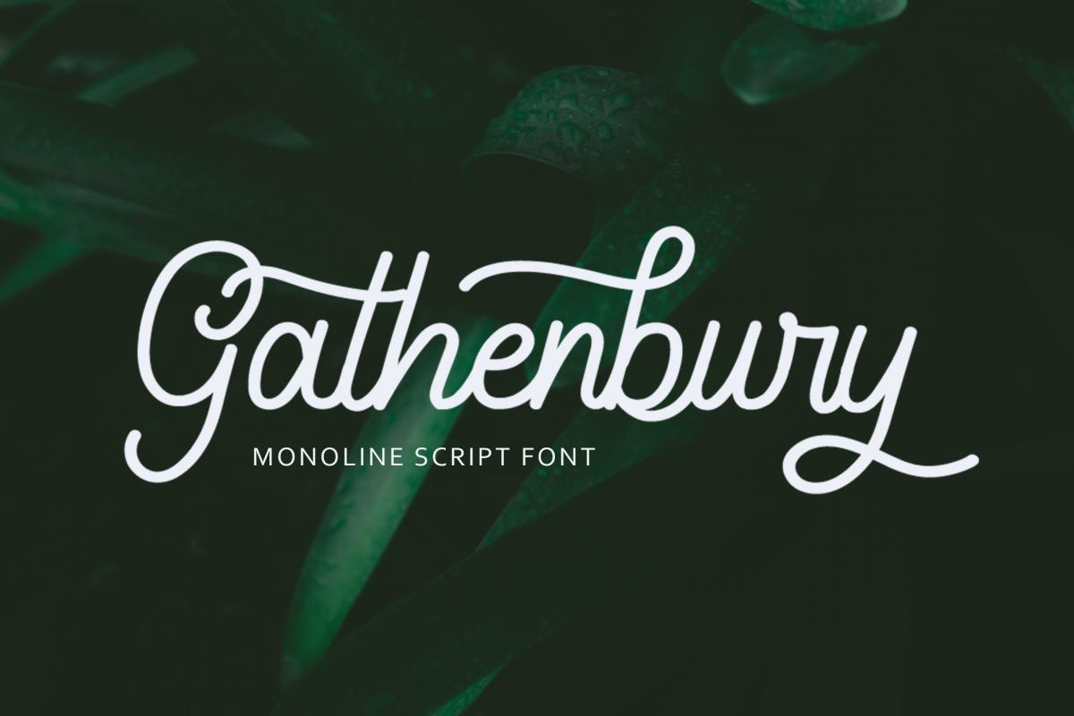 Gathenbury Font example image 1