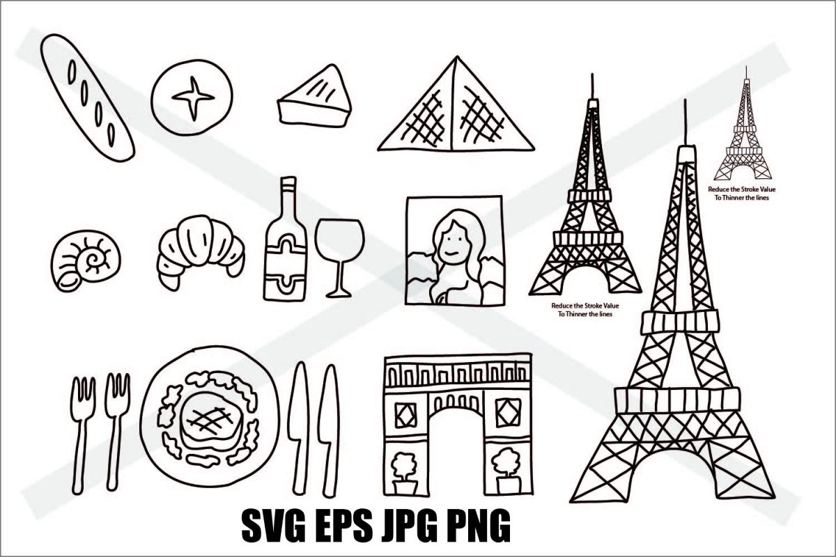 France Element Set - SVG EPS JPG PNG example image 1