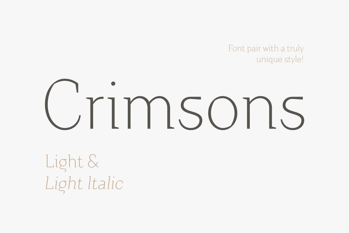 Crimsons — Light & Light Italic example image 1