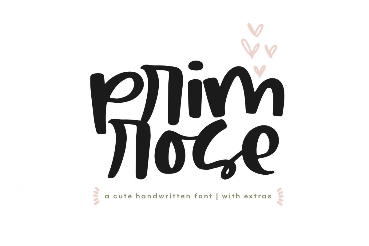 Primrose - Handwritten Script Font with Extras example image 1