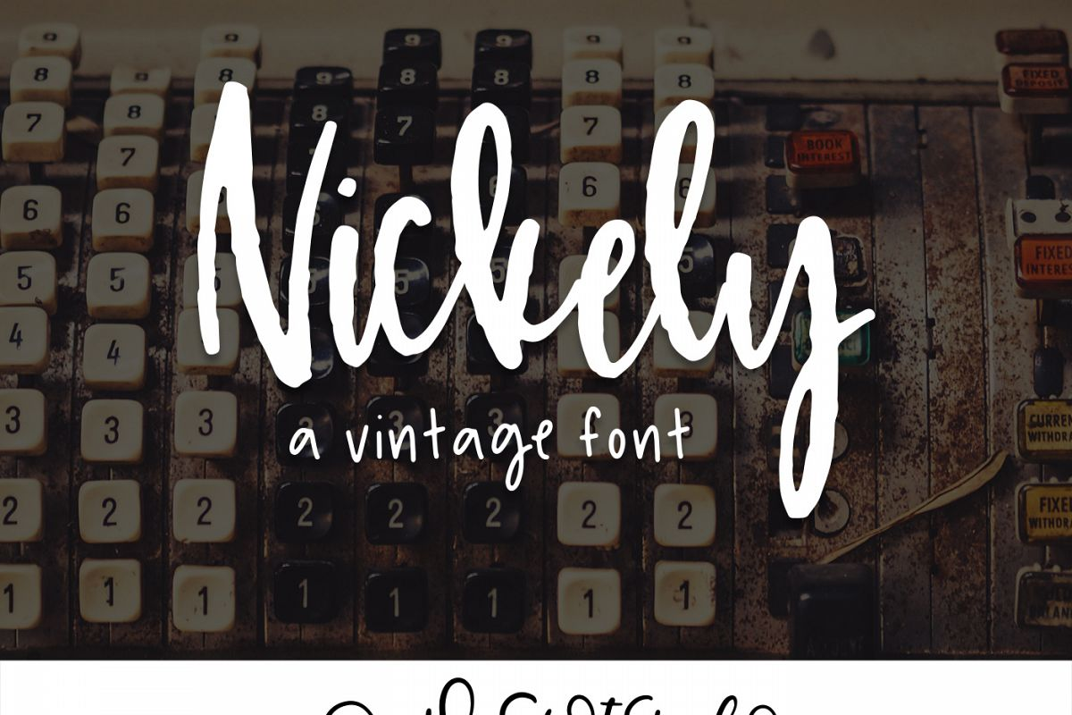 Nickely - A Textured Script example image 1