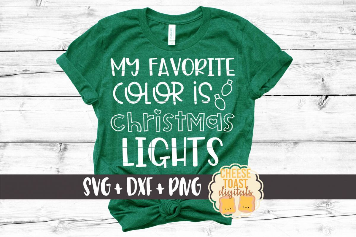 My Favorite Color Is Christmas Lights - SVG PNG DXF Files example image 1
