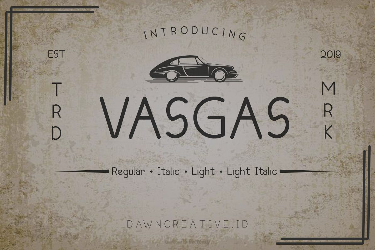 Vasgas Font example image 1