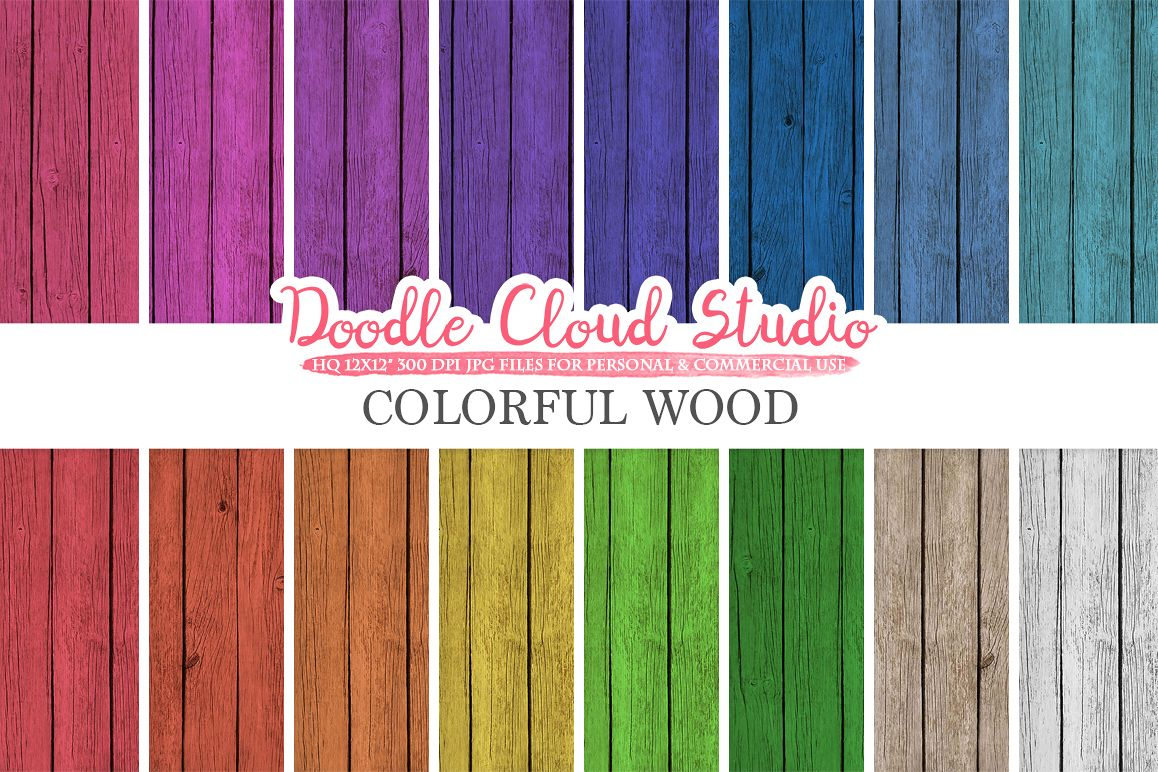 Colorful Real Wood digital paper, Bright Colors, Wood Printables, Wood Backgrounds, Rustic Wood textures, Instant Download, Commercial Use example image 1