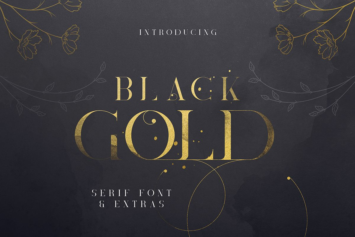 Black Gold serif font Extras example image 1