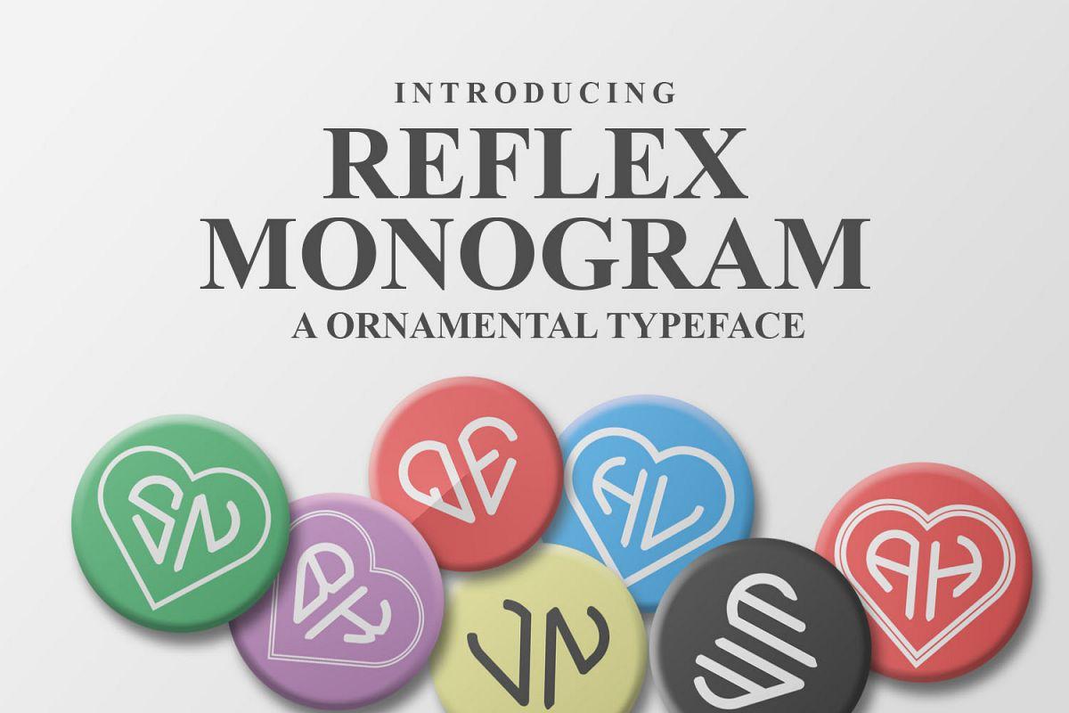 Reflex Monogram Font example image 1
