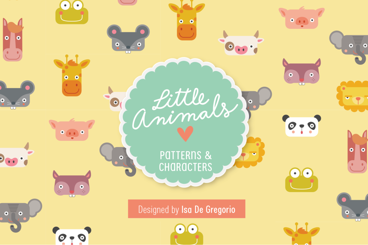Little Animals Patterns + Characters example image 1