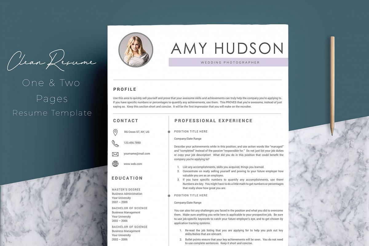Professional Resume Template word example image 1