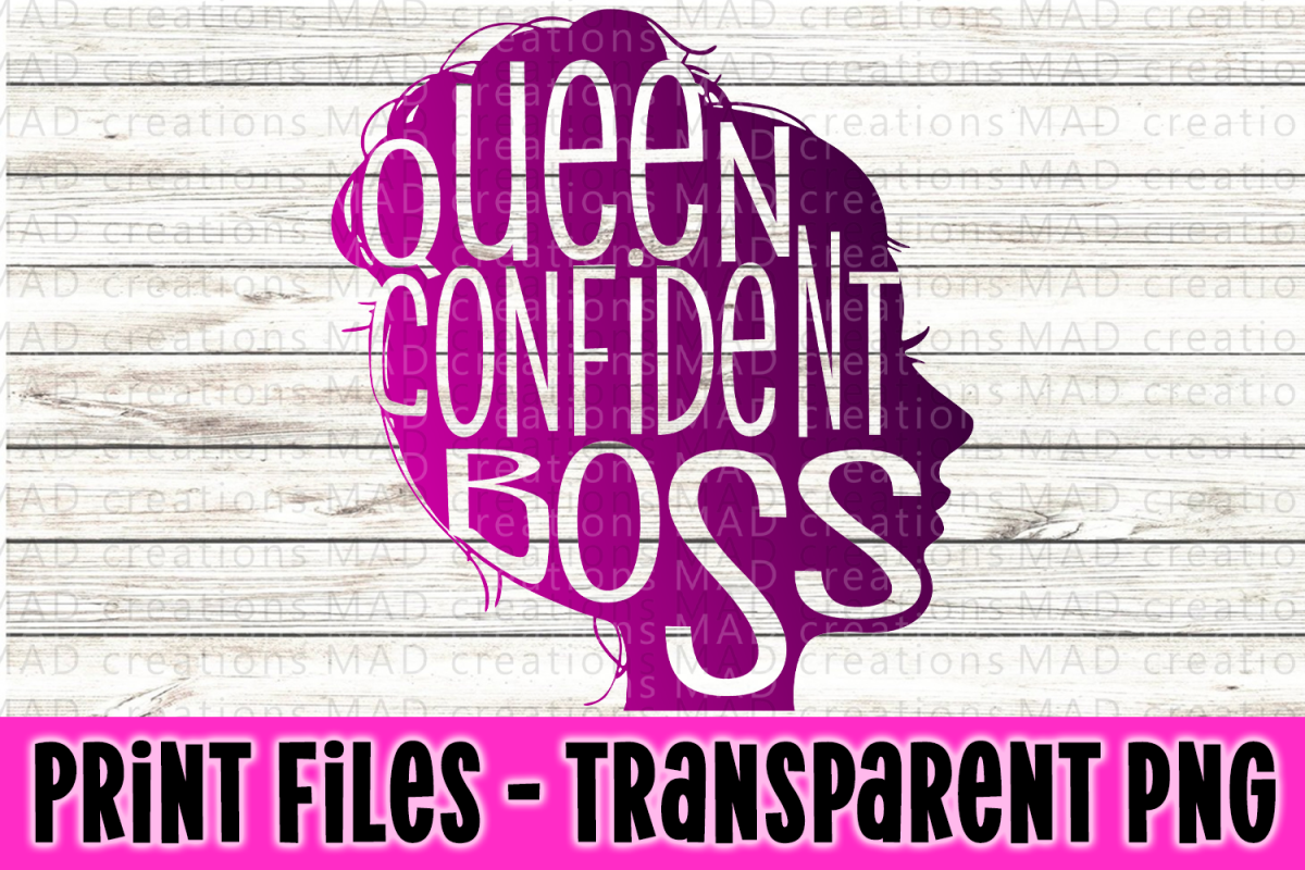 Queen Confident Boss Silhouette Print File example image 1