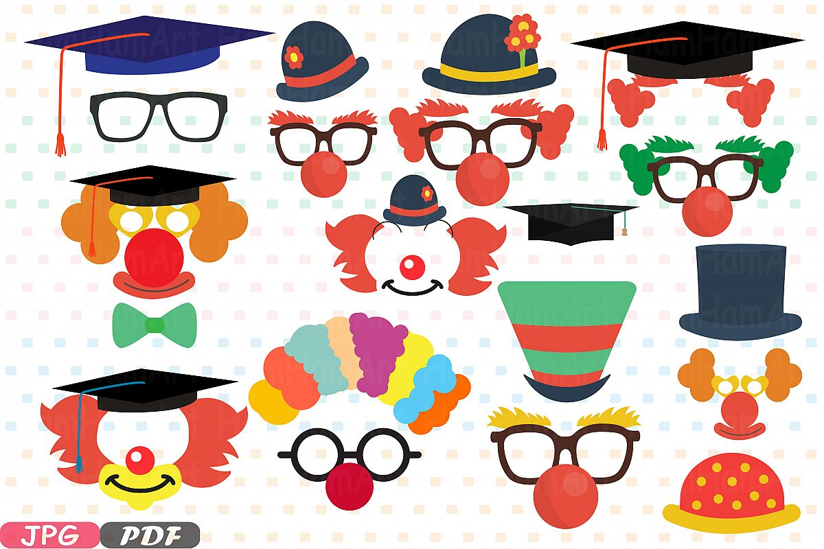 picture relating to Graduation Photo Booth Props Printable identified as Occasion Commencement Circus Image Booth Props JPG PDF deal 1p