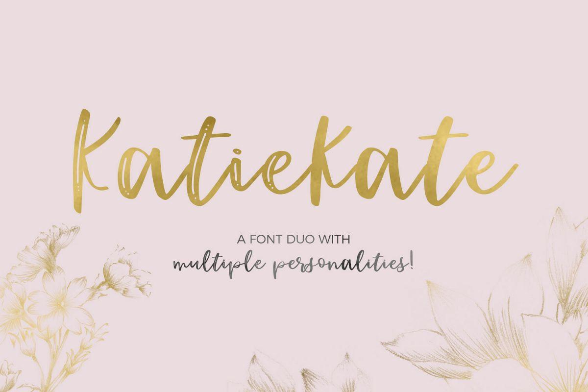 Katiekate Font Duo example image 1