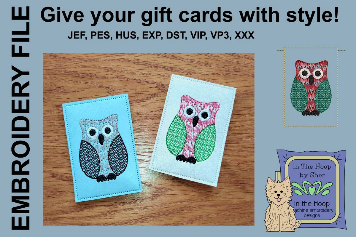 ITH Christmas Owl Gift Card Holder example image 1