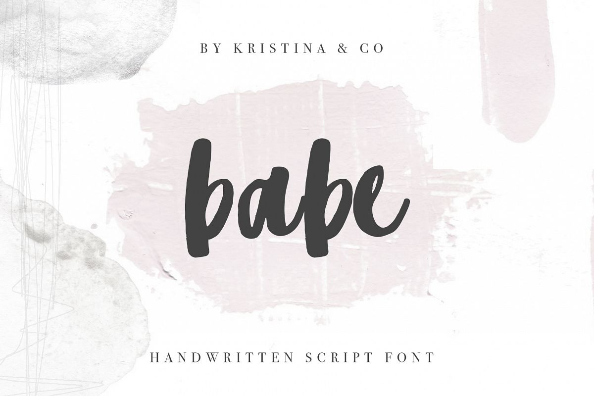Babe Handwritten script Font example image 1