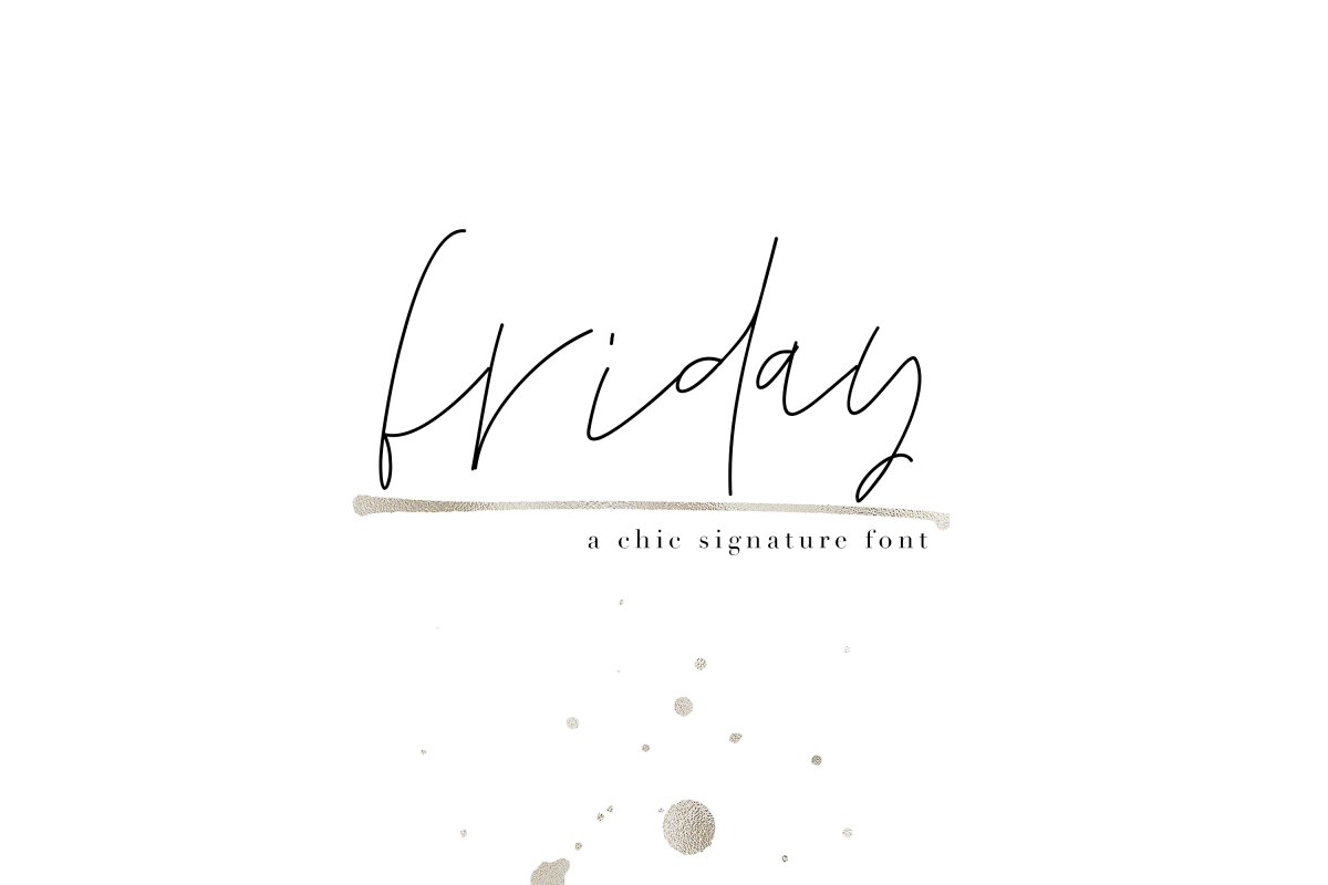 Friday - Chic Signature Font example image 1