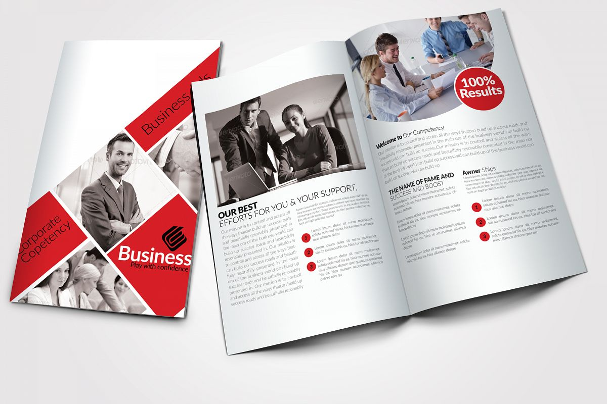 8 Pages Business Bifold Brochure example image 1