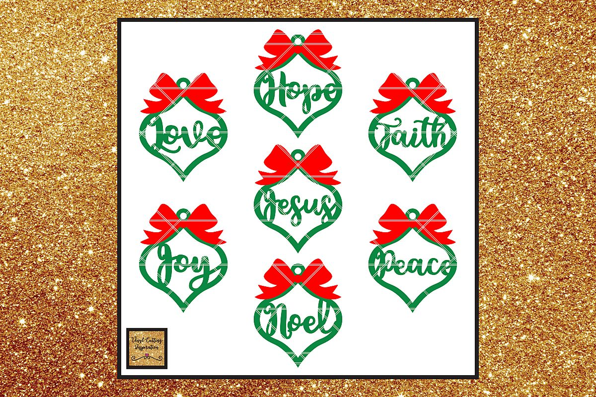 Farmhouse Christmas Ornaments, Christmas Svg, Christmas example image 1
