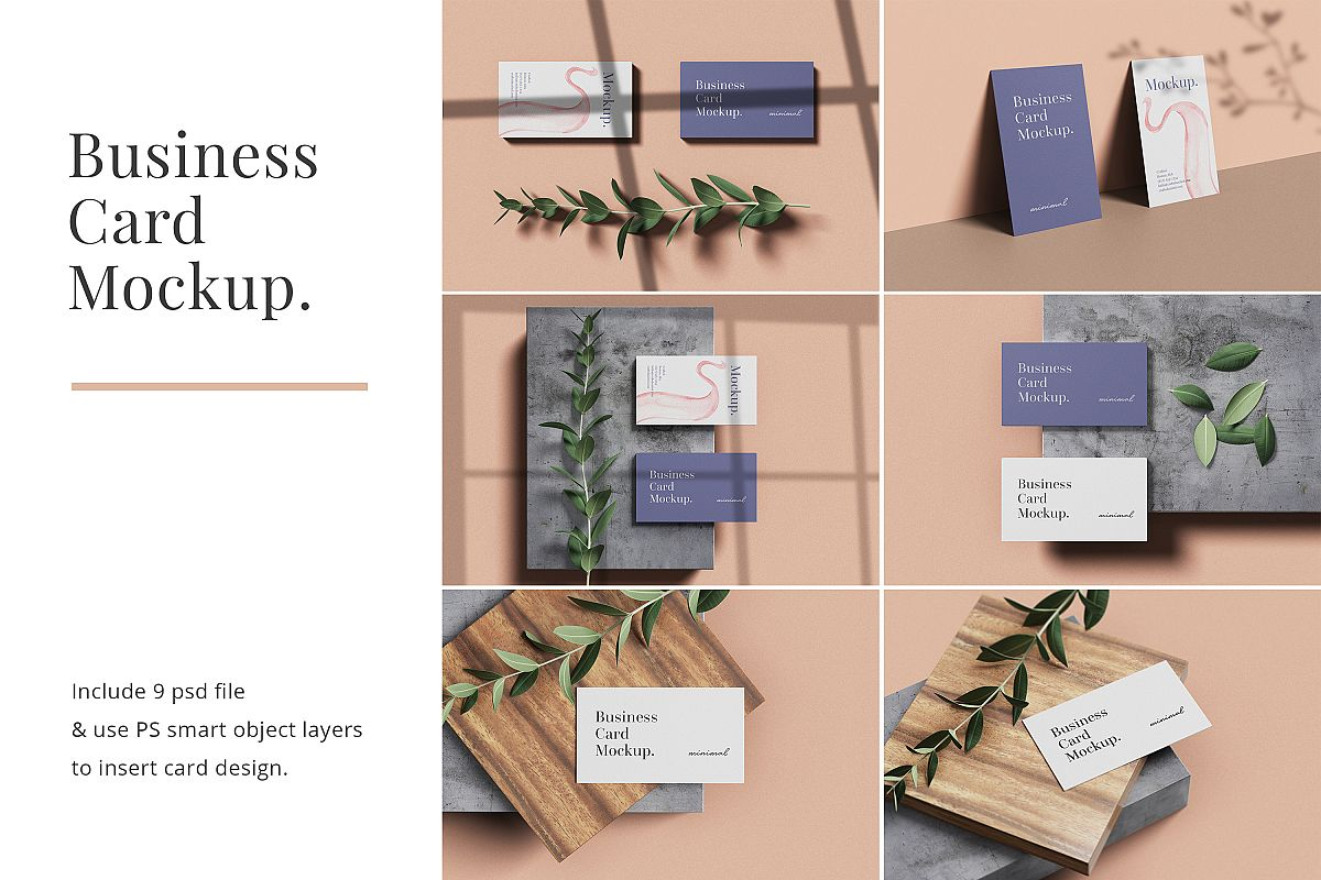 Modern Business Card Mockup example image 1