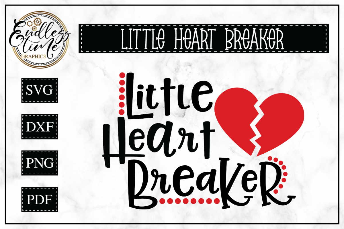 Little Heart Breaker SVG Cut File example image 1