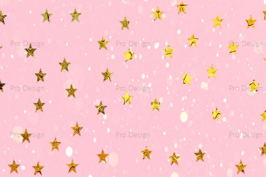 Star Golden sparkles Background example image 1