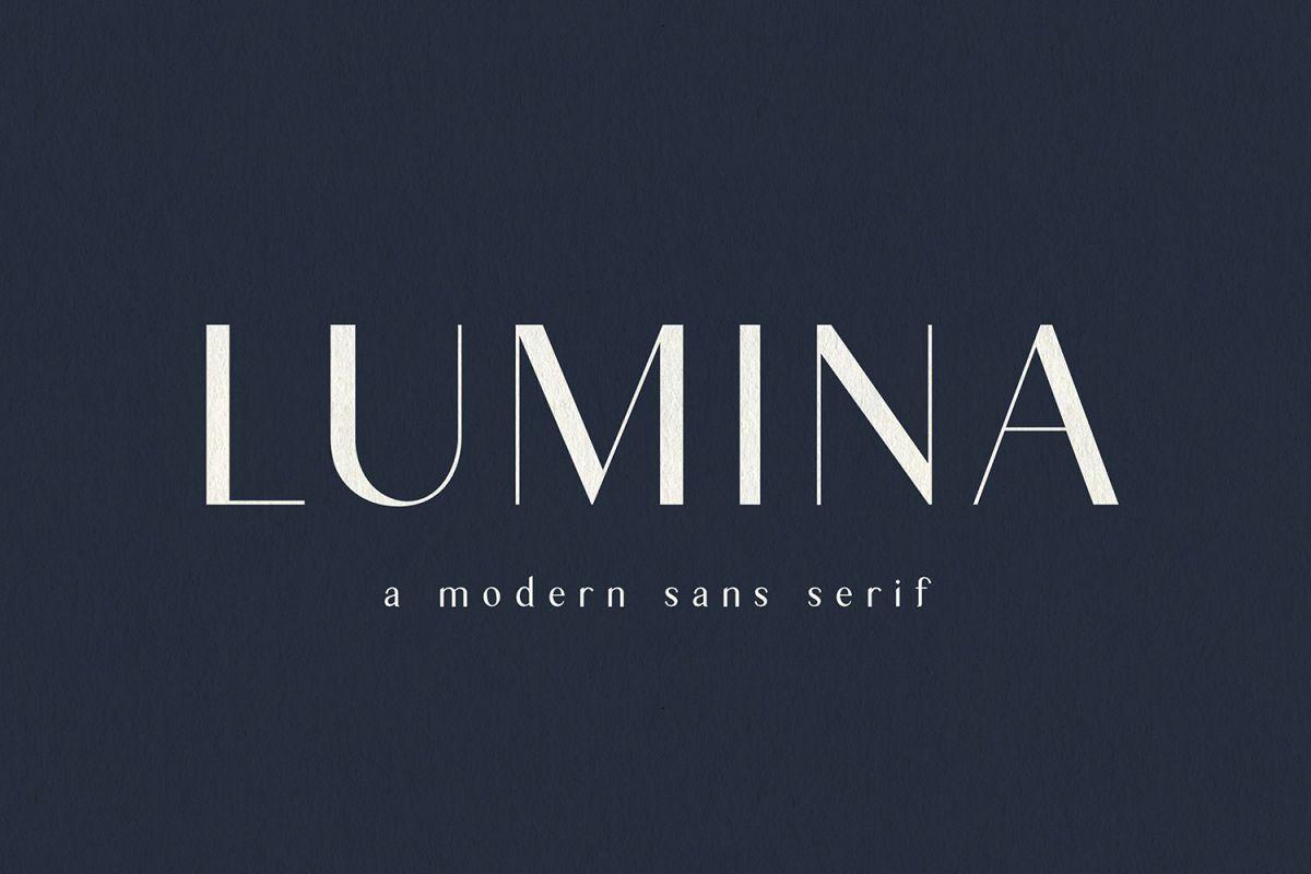 Lumina | Modern Sans Serif example image 1