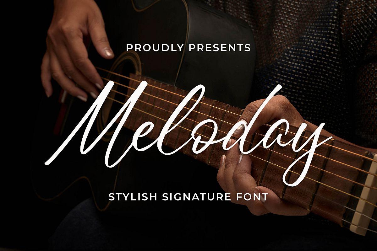 Meloday - Stylish Signature Font example image 1