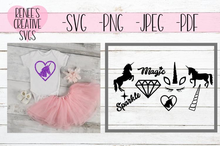 Unicorn bundle | Unicorn SVG | SVG Cutting File example image 1