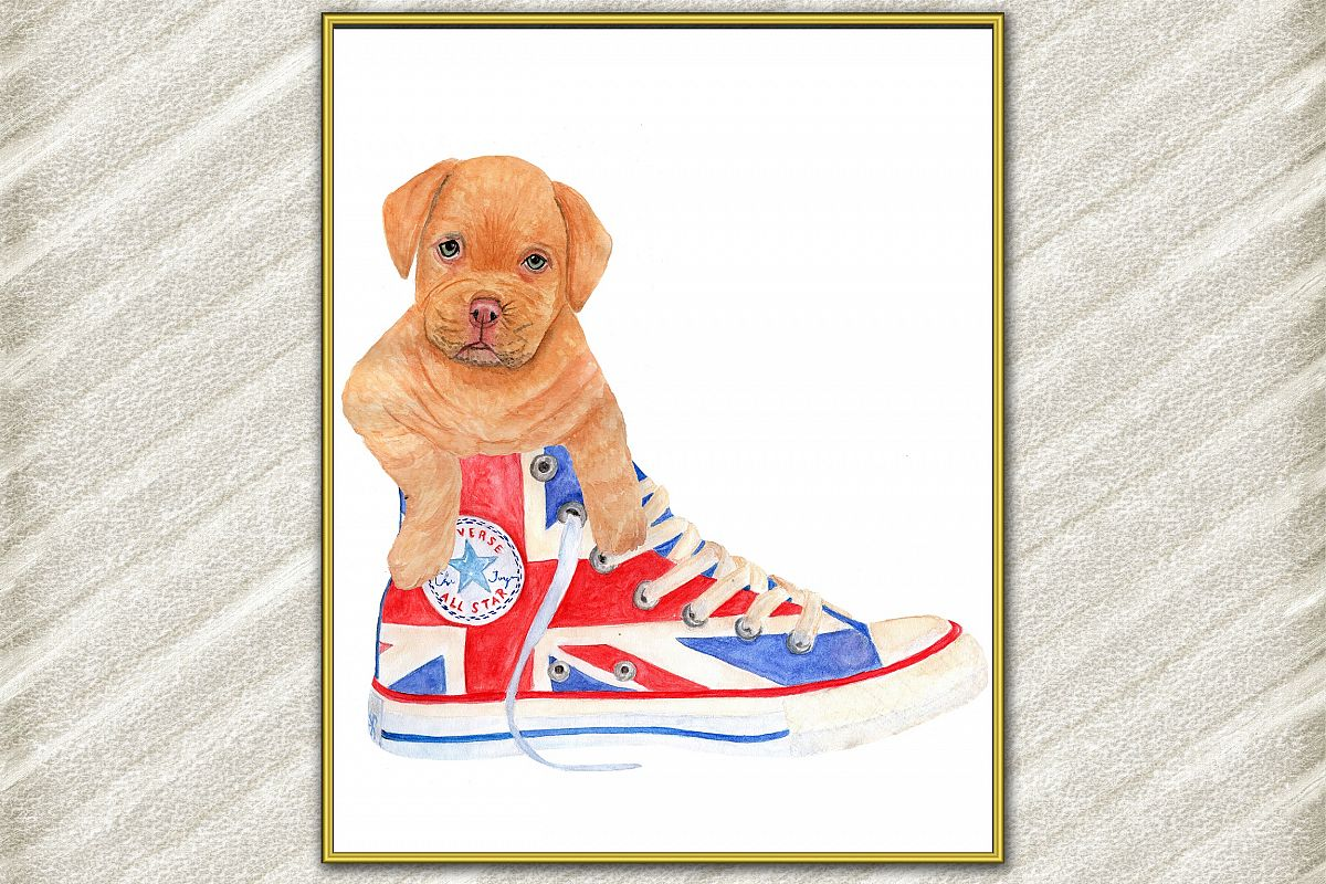 Cute dog digital print ,Puppy Posters, Funny dog print example image 1