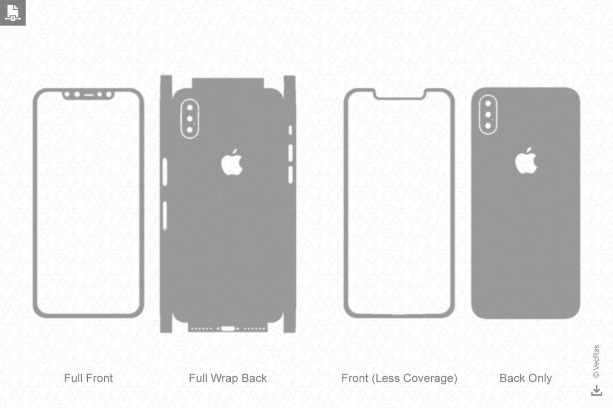 Apple iPhone X Vinyl Skin Cut File Template 2017 (292269 ...